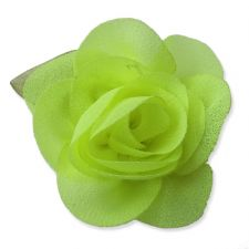6cm Rose Leaf NEON YELLOW Fabric Flower Applique